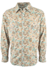 Ryan Michael Paisley Print Snap Shirt - Spruce - Front