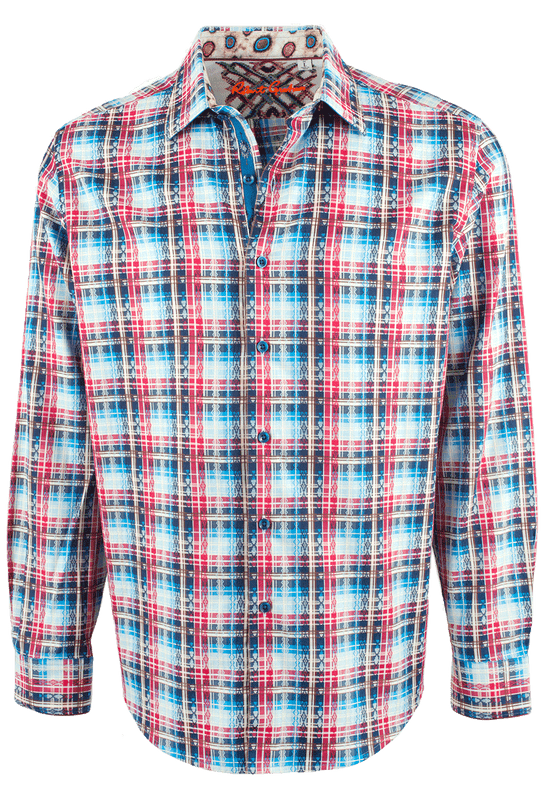 Robert Graham Rift Valley Red Shirt - Front