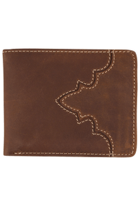 Western Classic Passcase Wallet - Brown - Front