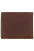 Western Classic Passcase Wallet - Brown - Back