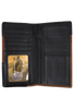 Laredo Ranger Checkbook Wallet - Black - Inside