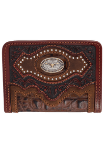 Cattle Driven Bifold Wallet - Dark Brown - Front