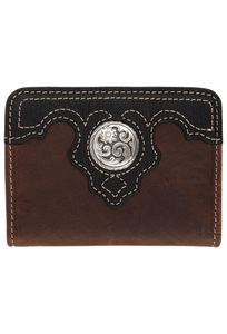 Gaucho Bifold Wallet - Brown and Black - Front