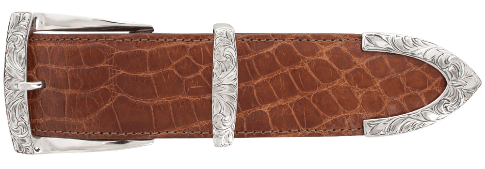 "Greg Jensen Eason Engraved 1 1/2"" Buckle Set"