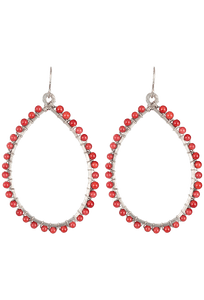 Brown Eyed Girl Coral Hoop Earrings