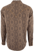 Ryan Michael Aztec Silk Jacquard Snap Shirt - Chestnut - Back