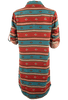 Ryan Michael Serape Stripe Dress - Cyan - Back - Sleeves UP