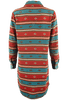 Ryan Michael Serape Stripe Dress - Cyan - Back - Sleeves Down