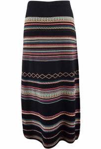 Foxcroft Stripe Jacquard Skirt - Back