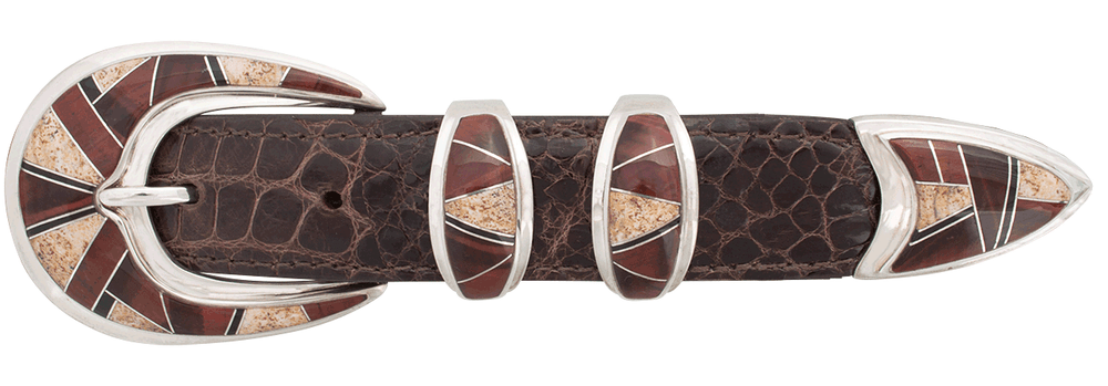 "BG Mudd Tiger Eye, Jasper and Onyx 1"" Buckle Set"