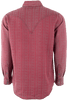 Ryan Michael Beacon Blanket Silk Jacquard Snap Shirt - Garnet - Back