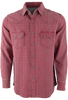 Ryan Michael Beacon Blanket Silk Jacquard Snap Shirt - Garnet - Front