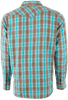 Ryan Michael Ombre Dobby Plaid Snap Shirt - Lake - Back