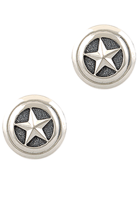 Greg Jensen Sterling Silver Star Cufflinks - Front