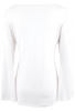 Bronte White Long Sleeve Tatum Top - Back