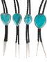 Pinto Ranch Blue Turquoise Bolo Tie - variations