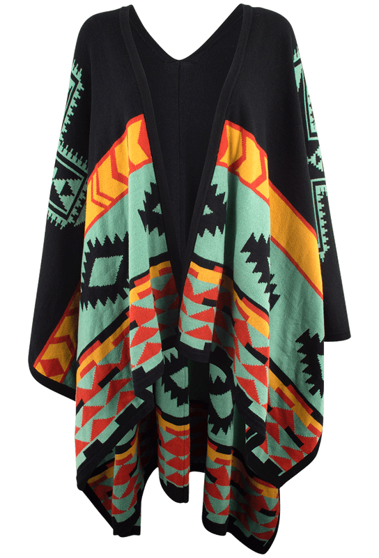 Cowgirl Justice Comanche Sage Poncho Shawl - Front