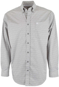 Cinch Gray Brush Print Shirt - Front