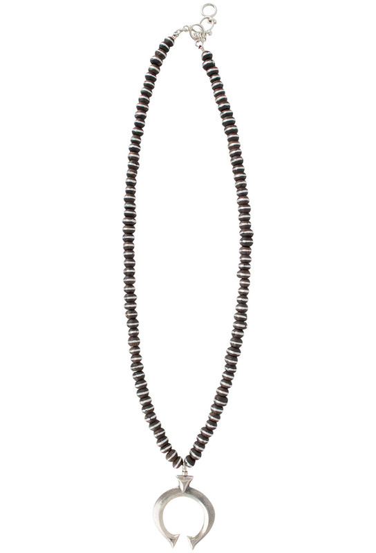 Coreen Cordova Naja Pendant on African Bead Necklace