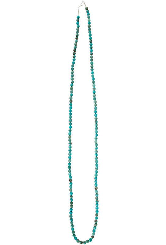 Ticklebutton Jewels Faceted Turquoise Beaded Necklace