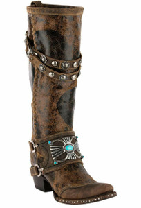 Double D Ranch by Lane Bow Guard Boots - Hero