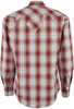Stetson Red Fire Ombre Plaid Snap Shirt - Back