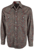 Stetson Wine Imperial Paisley Snap Shirt - Front