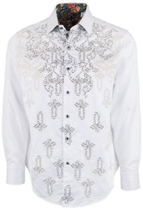 Robert Graham Baroque Off White Sport Shirt - Front