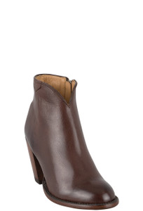 Lucchese Women's Whiskey Burnished Baby Buffalo Lucy Booties - Hero