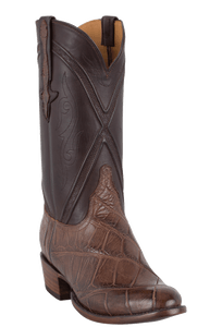 Lucchese Men's Chocolate Wild Gator Boots - Hero