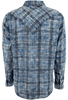 Ryan Michael Double Face Plaid Snap Shirt - Indigo - Back