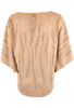 Alberto Makali Faux Suede Laser Cut Poncho Top - Camel - Back - Alternate