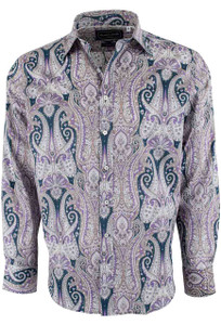 David Smith Australia Stone Hampton Paisley Print Shirt - Front