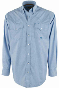 Miller Ranch Blue Micro Check Shirt - Front