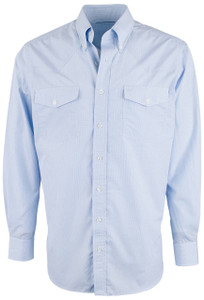 Pinto Ranch YY Collection Blue Micro Check Shirt - Front