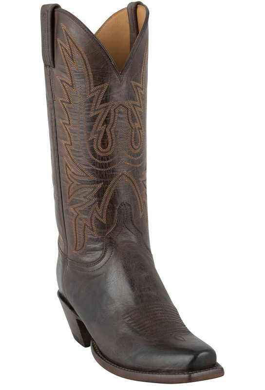 Lucchese Women's Chocolate Burnished Mad Dog Goat Boots - Hero