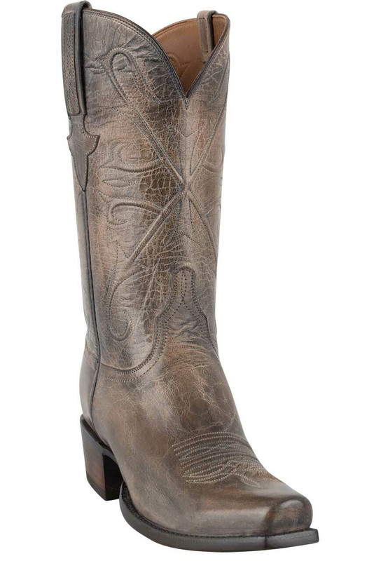 Lucchese Men's Pearl Bone Mad Dog Goat Boots - Hero