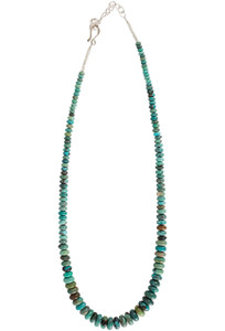 Ticklebutton Jewels Double Turquoise Rice Bead Necklace