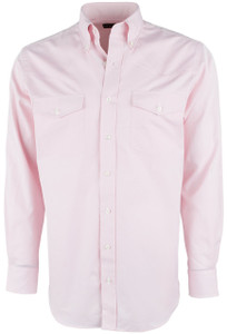 Pinto Ranch YY Collection Pink Pinpoint Solid Shirt - Short