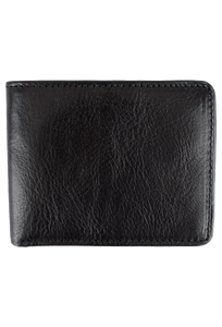 Leather Carnegie Passcase - Black - Front