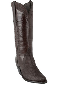 Stallion Women's Chocolate Lizard Triad Boots - Hero