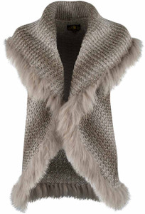 Metric Raccoon Fur Sweater Vest - Front