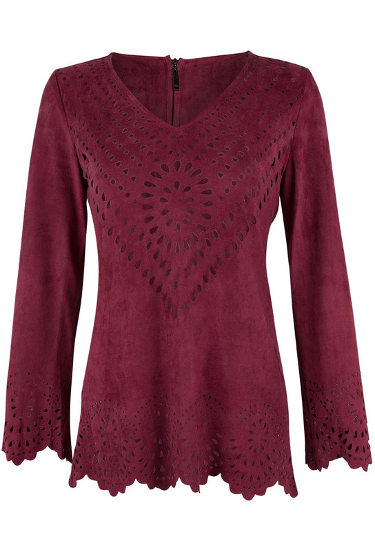 Alberto Makali Laser Cut Out Tunic - Front