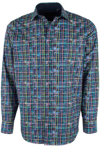 Bugatchi Midnight Bright Check Shirt - Front