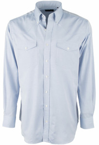 Pinto Ranch YY Collection Blue Pinpoint Solid Shirt - Front