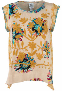Ivy Jane Embroidered Floral Hi-Lo Top - Front