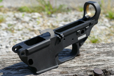 Black- Installed Ambidextrous Mag release comes installed on all receivers but is not shown