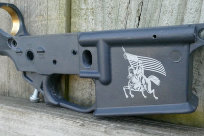 THE RIDE ENGRAVING AR15 STEALTH GRAY