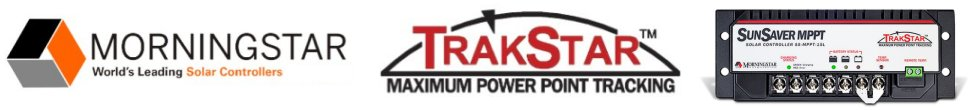 Morningstar Charge Controllers with TrakStar Maximum Power Point Tracking