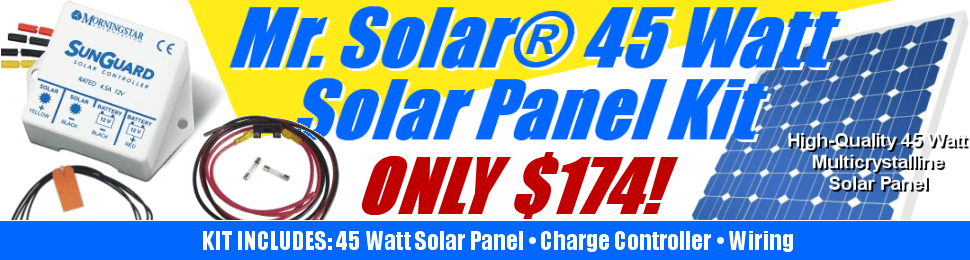 Don't buy that other cheap 45 watt solar kit! Choose high-quality and long warranties.